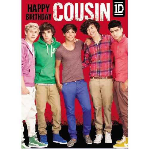 Official One Direction Birthday Card with wo Sound Message for – One Direction Birthday Greeting