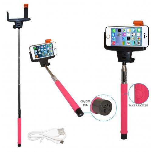 wireless bluetooth handy teleskop einbeinstativ kamera halter selfie pink neu ebay. Black Bedroom Furniture Sets. Home Design Ideas