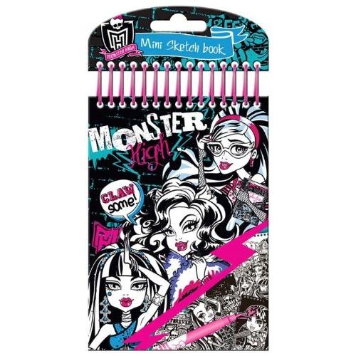 Monster High Mini Sketch Book Stationery Brand New Gift | EBay