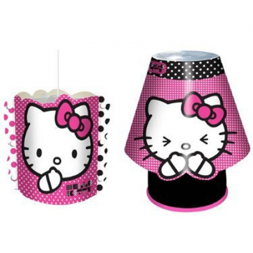 hello kitty 39 geformt 39 kool lampe blitz schirm set kinder. Black Bedroom Furniture Sets. Home Design Ideas