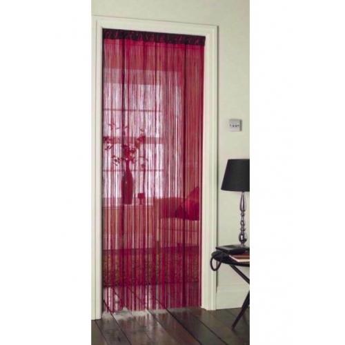 pink string style retro door patio curtain strip blind 90