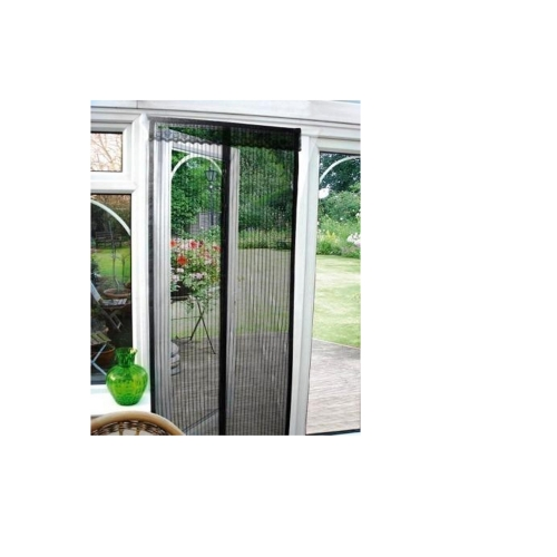 black magnetic insect door screen curtain wasp patio