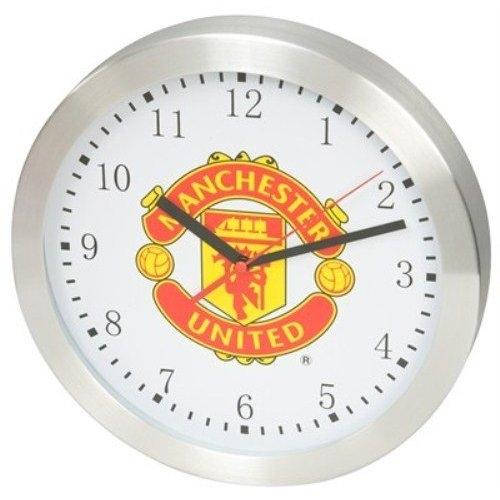 United football club red devils silver round wall clock room decor