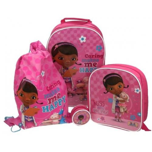 ... Doc-Mcstuffins-4pc-Set-Include-Wallet-Backpack-Trainer-Wheeled-Bag Doc Mcstuffins Bag