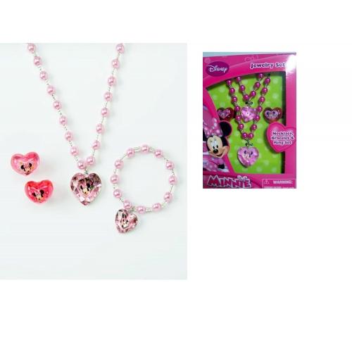 Disney minnie mouse jewellery box set girls accessories for Minnie mouse jewelry box