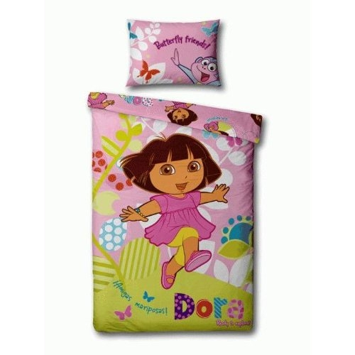 details about dora the explorer play single twin bedding duvet quilt