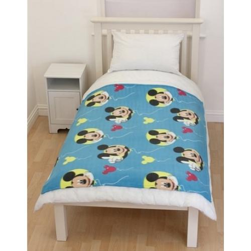 Disney Mickey Mouse Clubhouse Balloons Fleece Blanket Throw Cover Gift