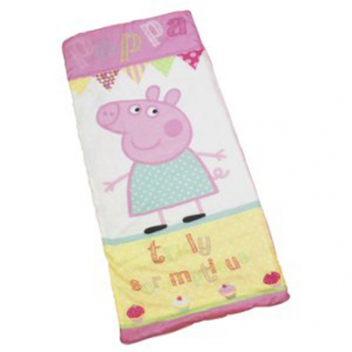 Peppa Pig 'Cupcake' Sleeping Bag Camping Travel Sleepover Sac Brand ...