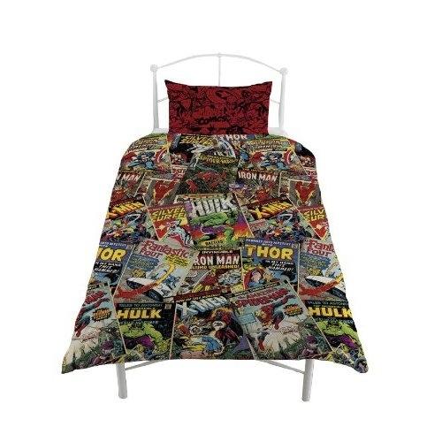 Marvel comics hero avengers single bed duvet quilt cover set new
