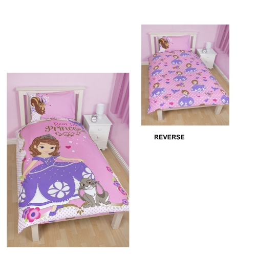 Disney sofia the first amulet reversible panel single bed - Sofia the first bedroom ...