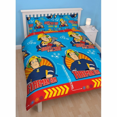 Fireman sam brave rotary lit double ensemble housse de for Ensemble housse de couette