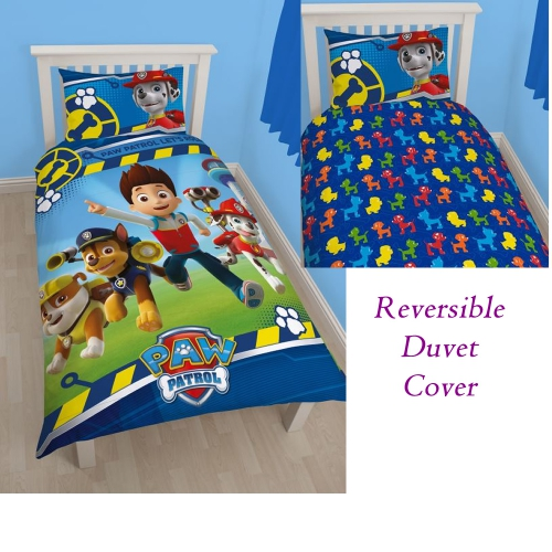 offiziell paw patrol ryder welpe kumpel rescue bett bettdecke bettbezug set ebay. Black Bedroom Furniture Sets. Home Design Ideas