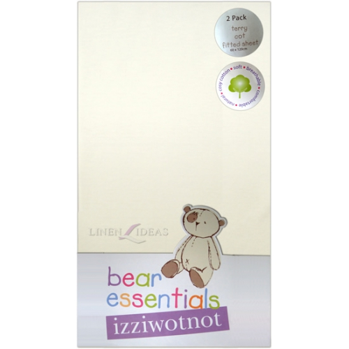 Izziwotnot ourson essentials paquet de 2 terry lit d for Drap housse traduction