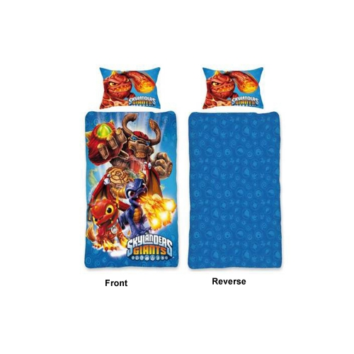 skylanders giants reversible panel single bed duvet quilt