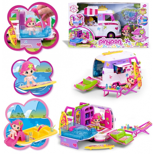 pinypon camping car 39 filles ensemble jouets jouet cadeau neuf ebay. Black Bedroom Furniture Sets. Home Design Ideas