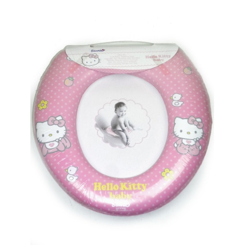 39 hello kitty baby 39 kids padded toilet seat soft potty for Commode kitty