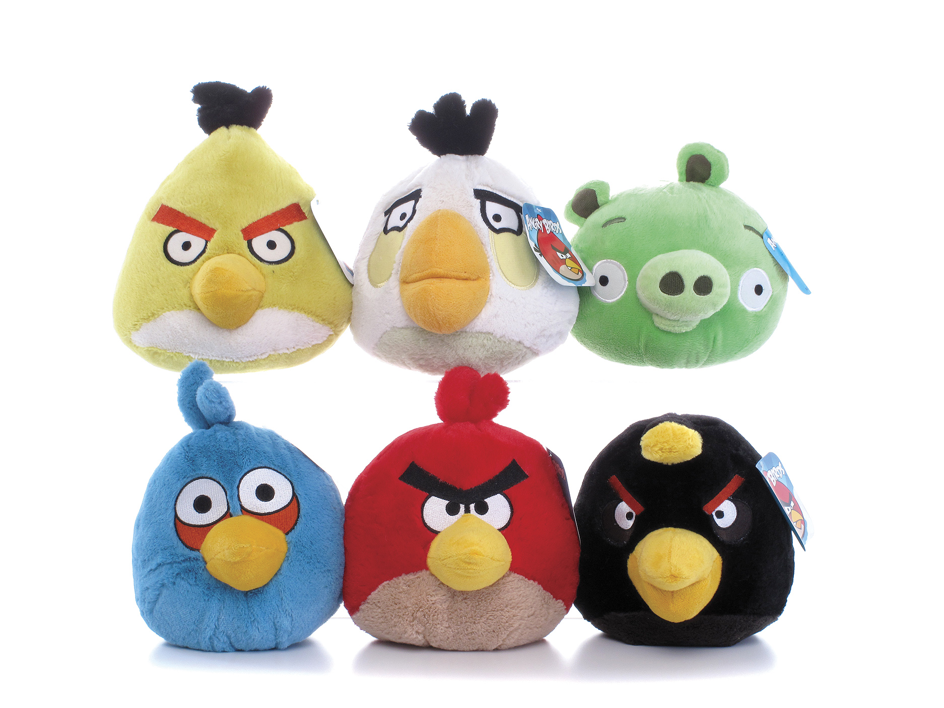 Angry birds with sounds 4 inch plush soft stuffed toy gift game brand new ebay - Angry birds toys ebay ...