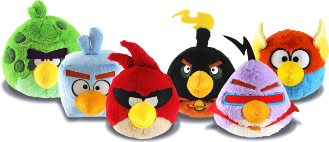 All Angry Birds Plush Toys : Angry birds space or inch plush soft toy all