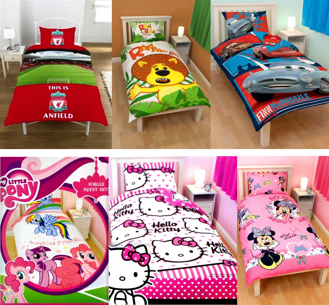Bed canopy with fairy lights bangdodo - Kids Characters Brands Single Double Bed Quilt Duvet Cover Sets New