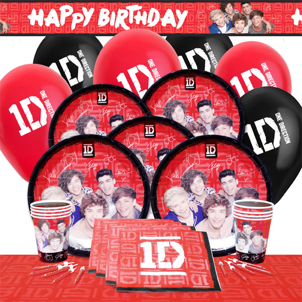 Details about One Direction Birthday Party Theme Celebration Supplies