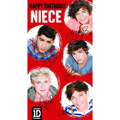 One Direction 1d Niece Its Your Birthday Greetings Card Original